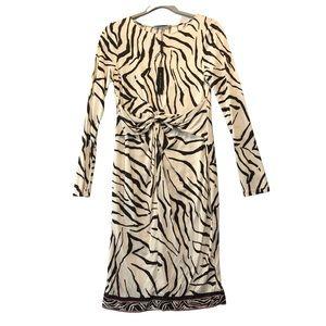 Elie Tahari Silk Nicolette Animal Print Dress M